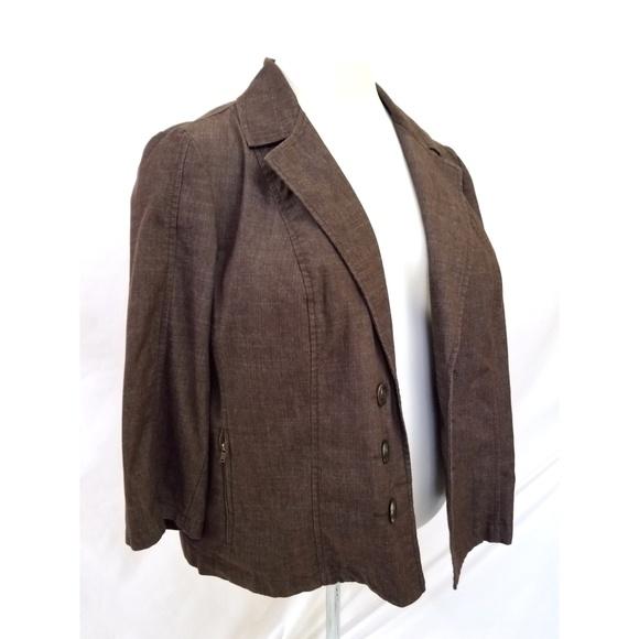 Dress Barn Jackets & Blazers - Dressbarn Size 3X Brown Blazer